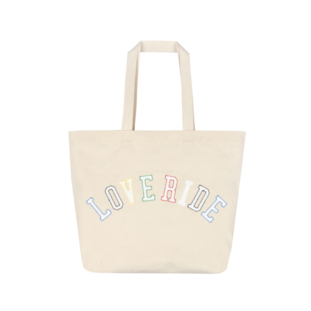 스테레오 바이널즈 - [SS20 SV X BPS] LOVE RIDE Totebag(Ivory)