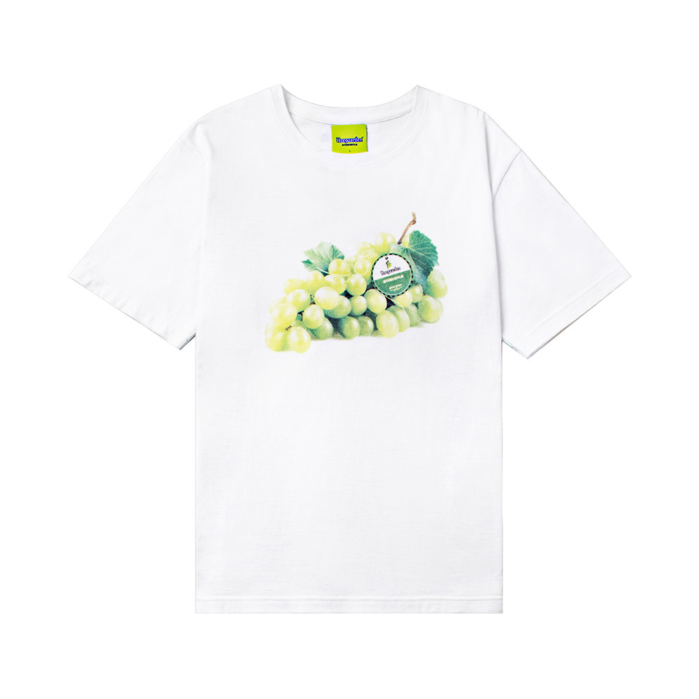스테레오 바이널즈 - [SS20 SV X Hoegaarden] GREEN GRAPE T-SHIRT(White)