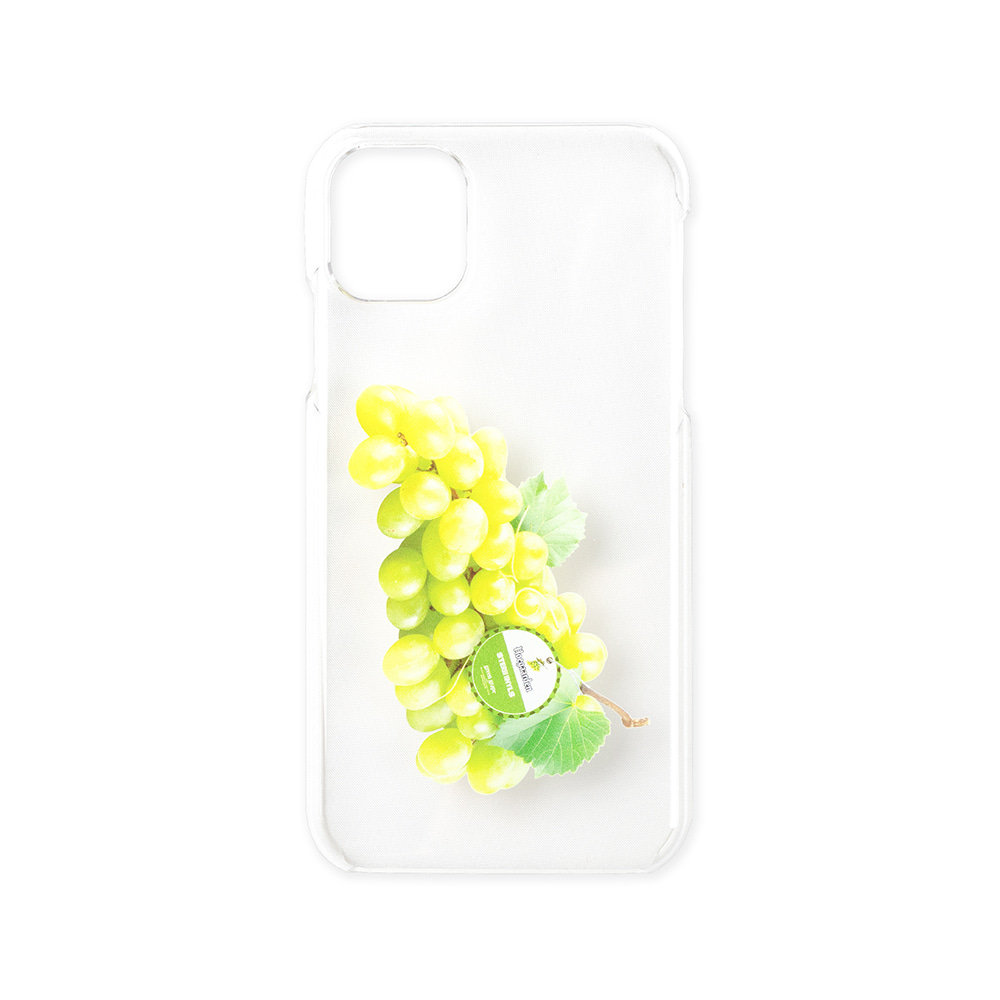스테레오 바이널즈 - [SS20 SV X Hoegaarden] GREEN GRAPE IPHONE CASE(White)