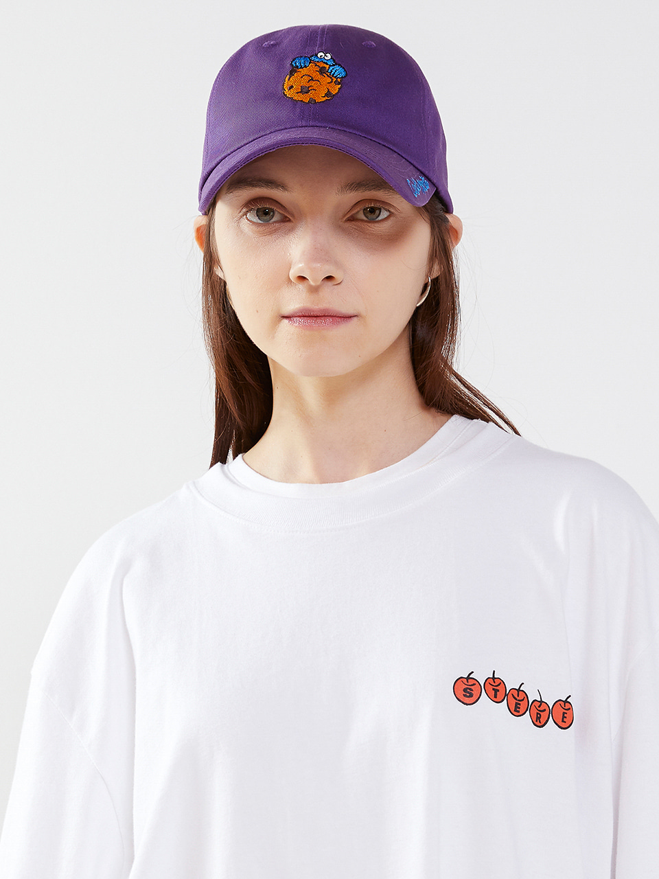 [SM20 SV X Sesame Street] Summer Point Ball Cap(Purple) 스테레오 바이널즈[SM20 SV X Sesame Street] Summer Point Ball Cap(Purple)