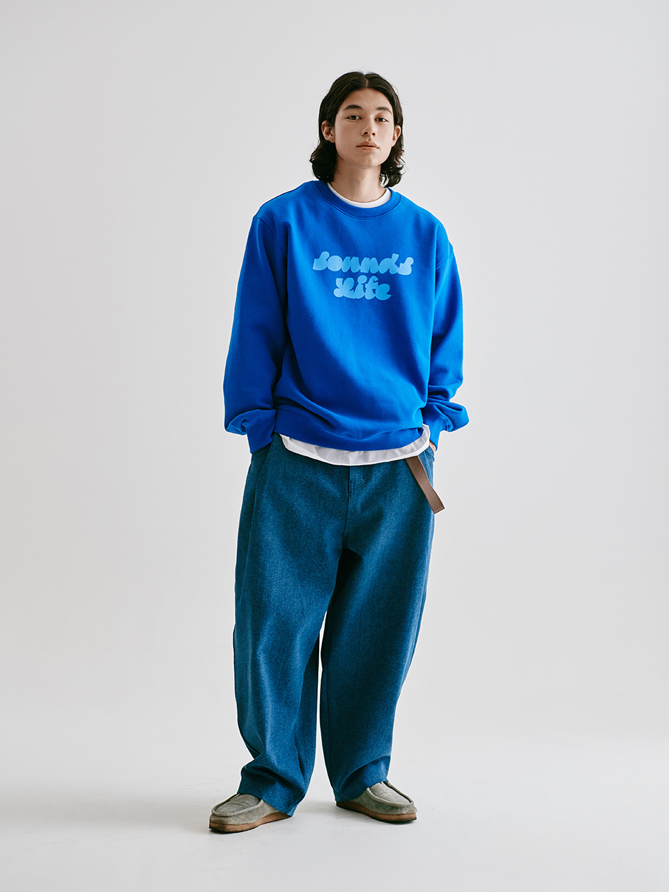 [FW20 Sounds Life] Balloon Snap Pants(Blue) 스테레오 바이널즈[FW20 Sounds Life] Balloon Snap Pants(Blue)