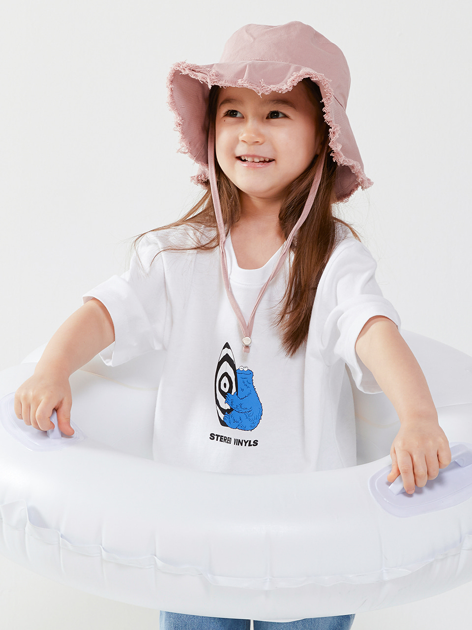 [SM20 SV X Sesame Street] Surfing CM T-shirts for Kids(White) 스테레오 바이널즈[SM20 SV X Sesame Street] Surfing CM T-shirts for Kids(White)