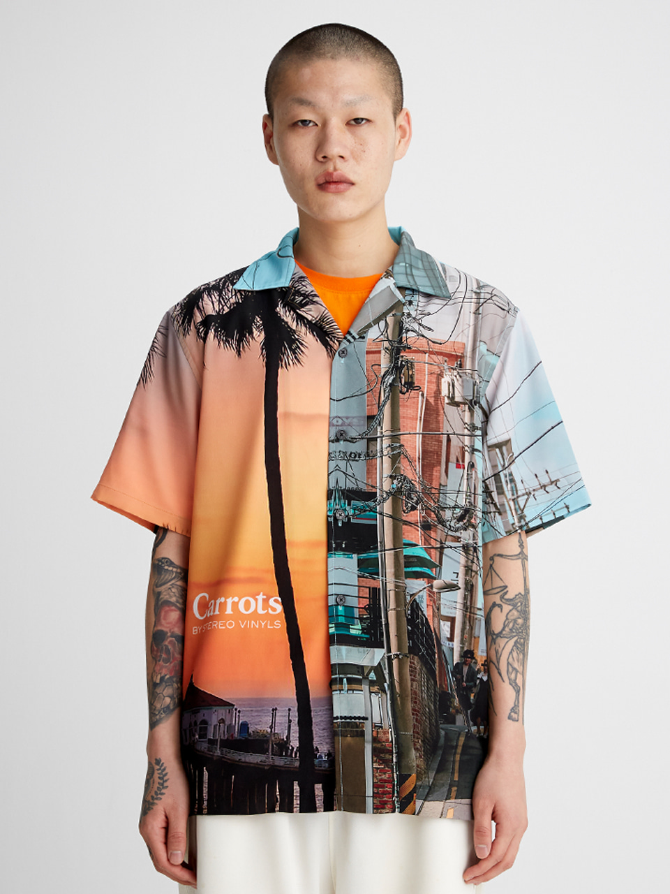 [SS20 SV X Carrots] City Pattern Shirts(White) 스테레오 바이널즈[SS20 SV X Carrots] City Pattern Shirts(White)