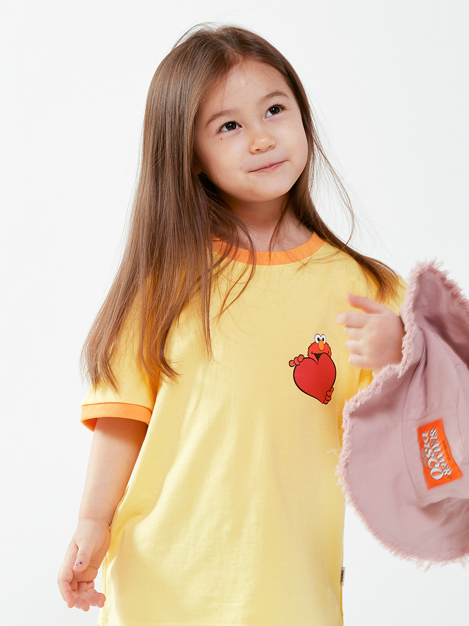 [SM20 SV X Sesame Street] Love Elmo T-shirts for Kids(Yellow) 스테레오 바이널즈[SM20 SV X Sesame Street] Love Elmo T-shirts for Kids(Yellow)