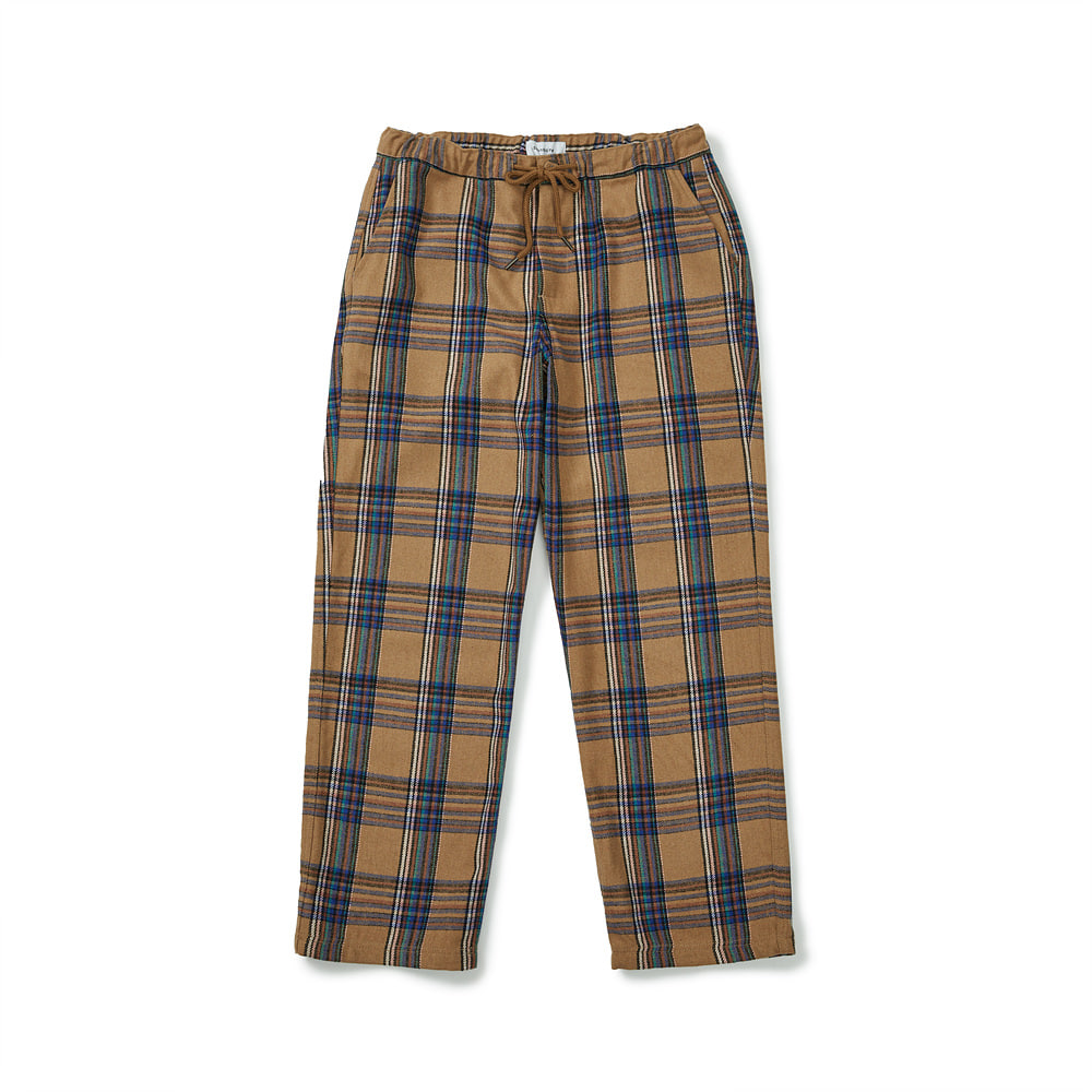 [FW20] Wool Checked Easy Pants(Brown) 스테레오 바이널즈[FW20] Wool Checked Easy Pants(Brown)