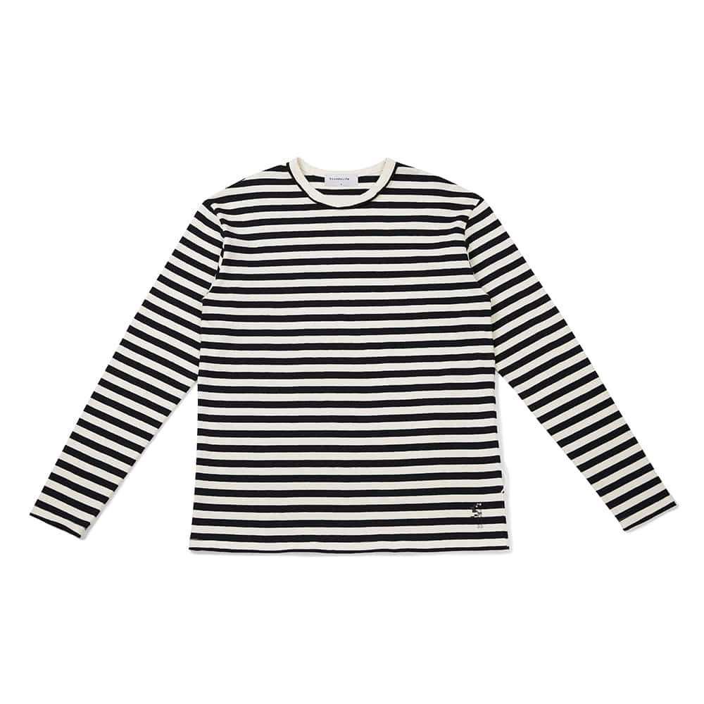 [FW20 Sounds Life] Comfy Striped T-shirt(Black) 스테레오 바이널즈[FW20 Sounds Life] Comfy Striped T-shirt(Black)
