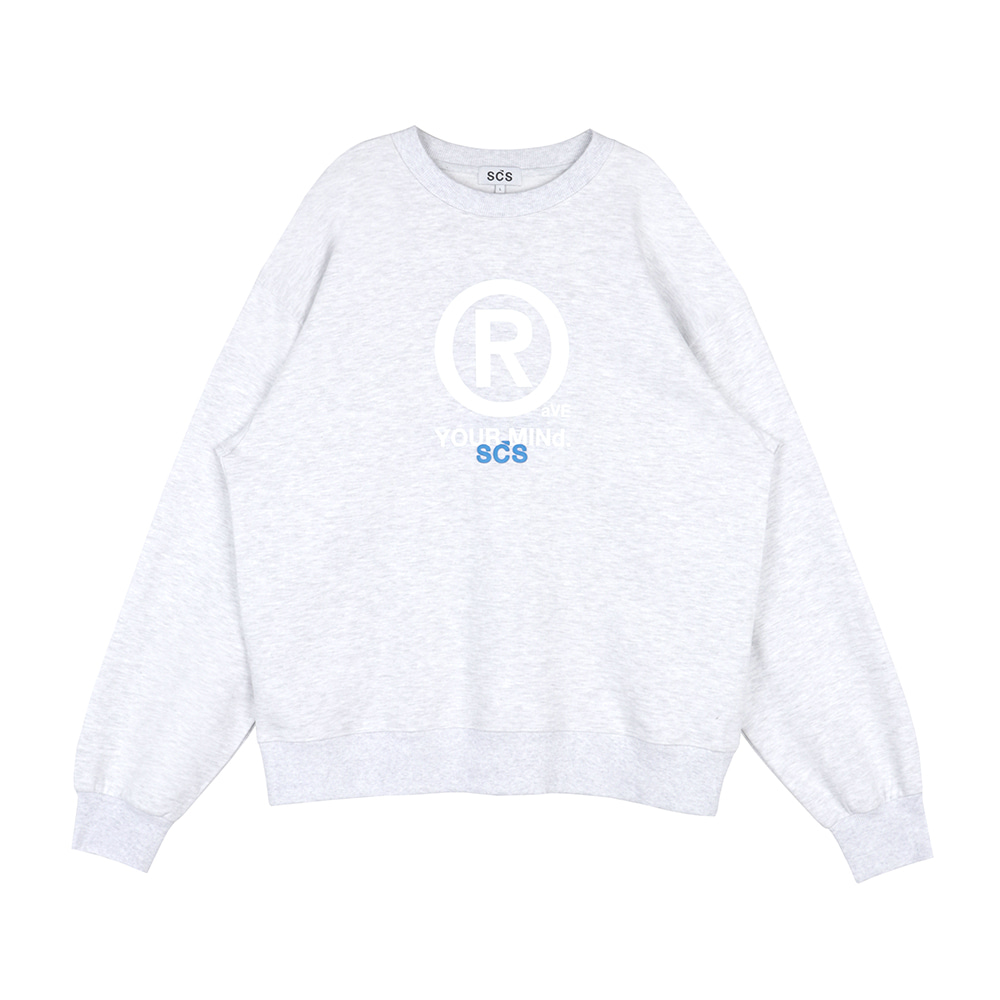 스테레오 바이널즈 - [SS20 SCS] ® Sweatshirts(Light Grey)