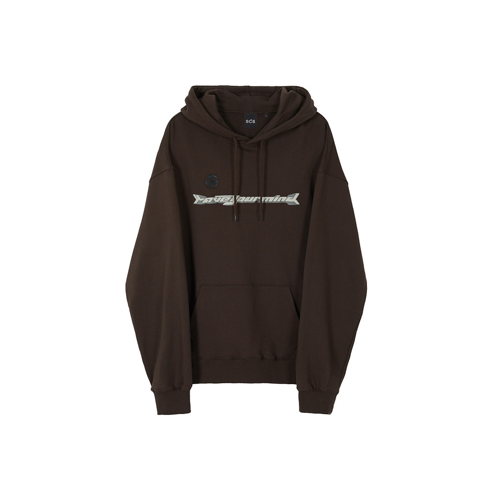 스테레오 바이널즈 - [AW20 SCS] Modify Slogan Hoodie(Brown)