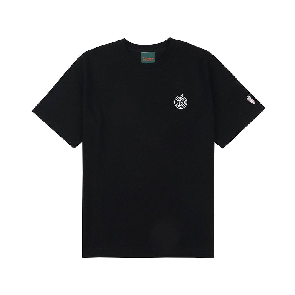 스테레오 바이널즈 - [SS20 SV X Carrots] One Point Logo T-shirts(Black)