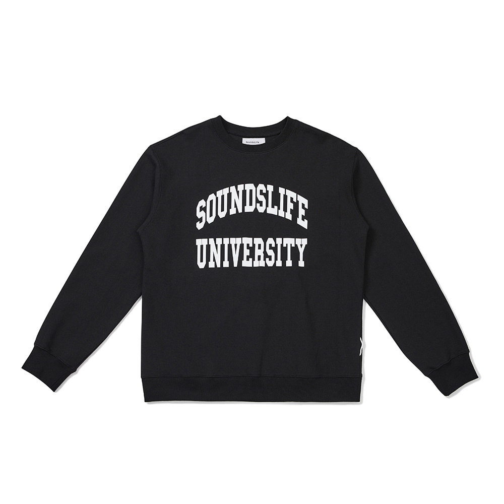 [FW20 Sounds Life] College Sweatshirt(Black) 스테레오 바이널즈[FW20 Sounds Life] College Sweatshirt(Black)