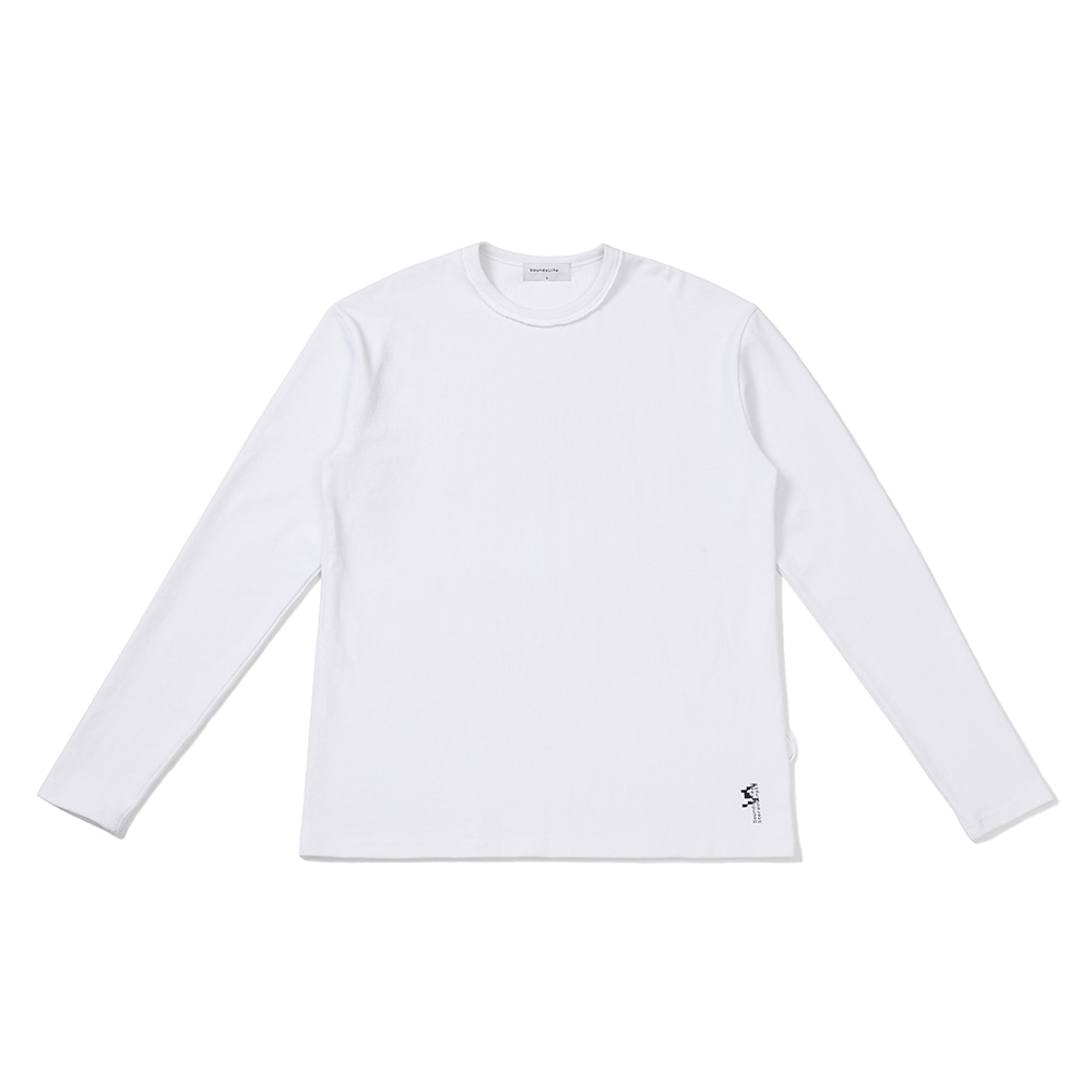 [FW20 Sounds Life] Comfy Long Sleeve T-shirt(White) 스테레오 바이널즈[FW20 Sounds Life] Comfy Long Sleeve T-shirt(White)