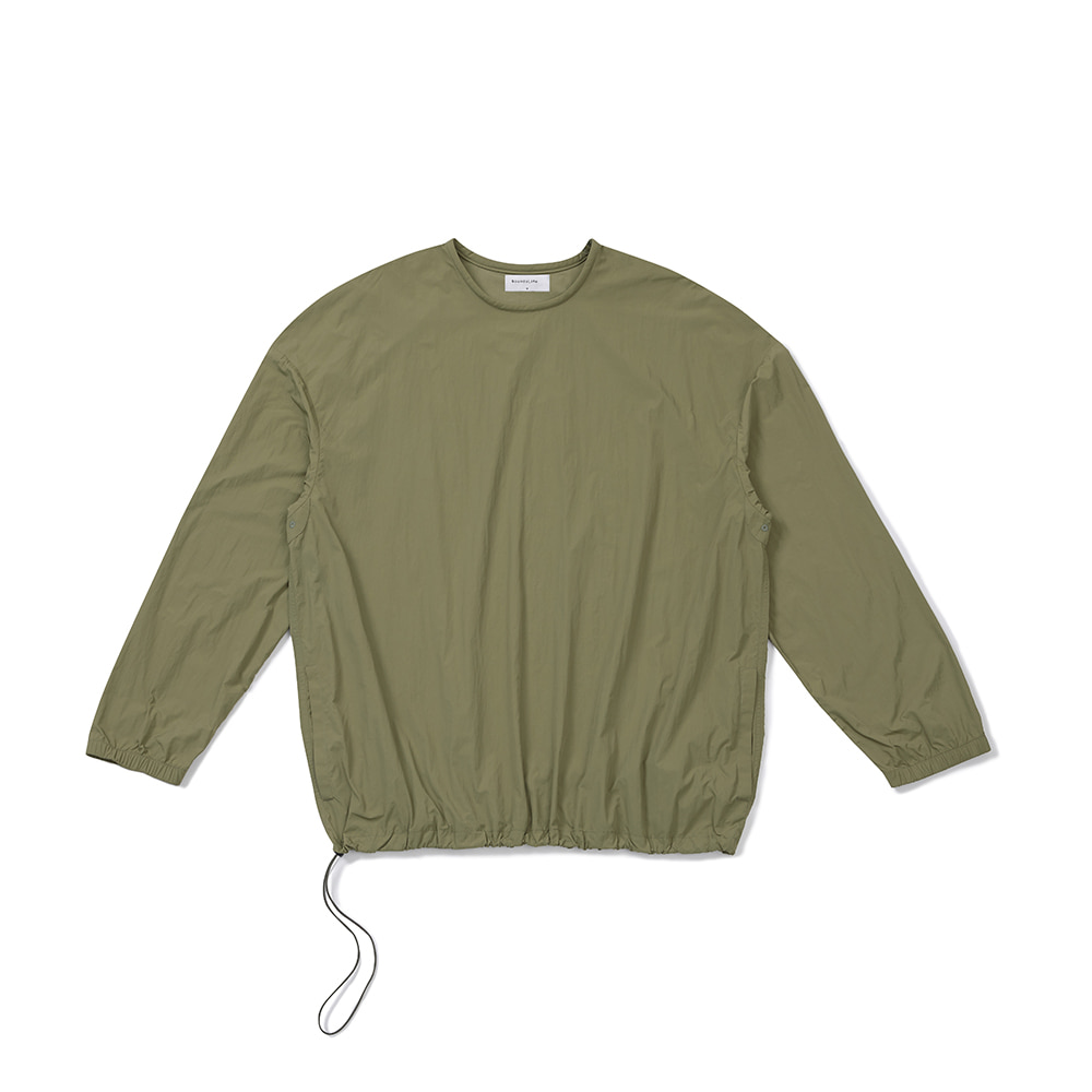 [FW20 Sounds Life] Nylon Pullover Shirt(Khaki) 스테레오 바이널즈[FW20 Sounds Life] Nylon Pullover Shirt(Khaki)