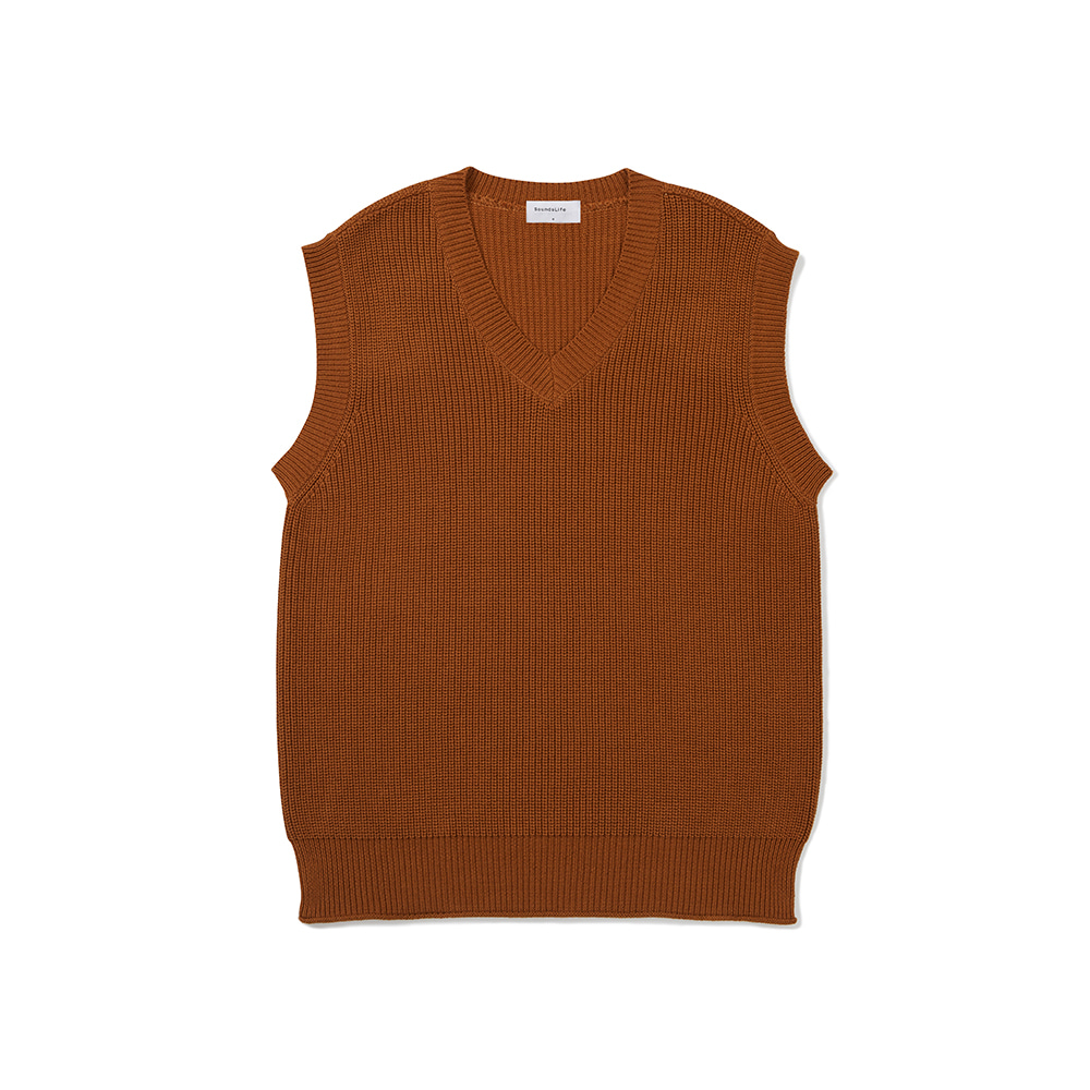 [FW20 Sounds Life] Mellow Knit Vest(Brown) 스테레오 바이널즈[FW20 Sounds Life] Mellow Knit Vest(Brown)