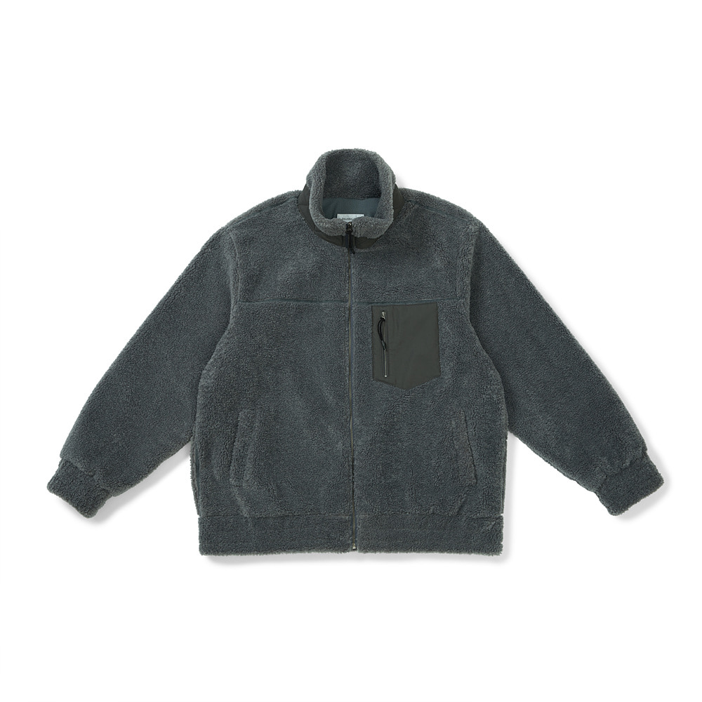 [FW20] Oversized Downy Fleece Jacket(Charcoal) 스테레오 바이널즈[FW20] Oversized Downy Fleece Jacket(Charcoal)