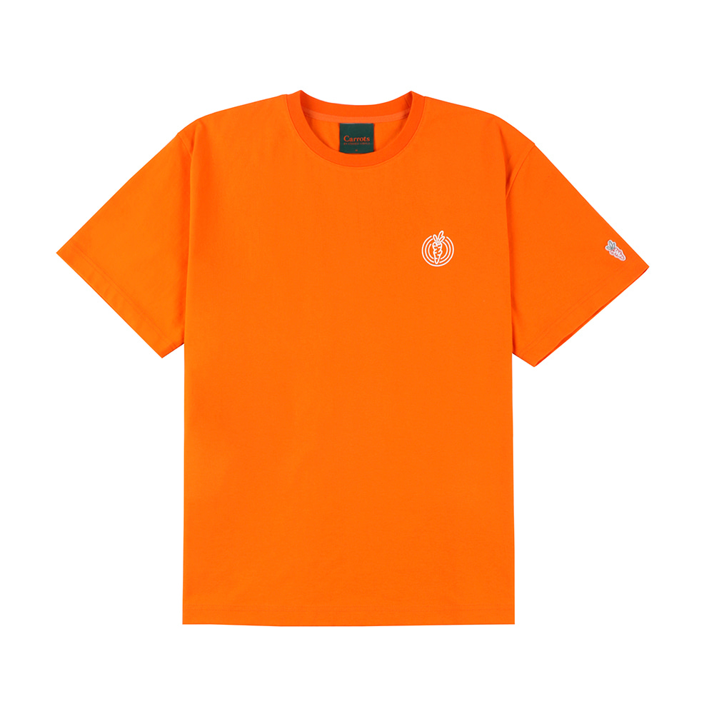 스테레오 바이널즈 - [SS20 SV X Carrots] One Point Logo T-shirts(Orange)