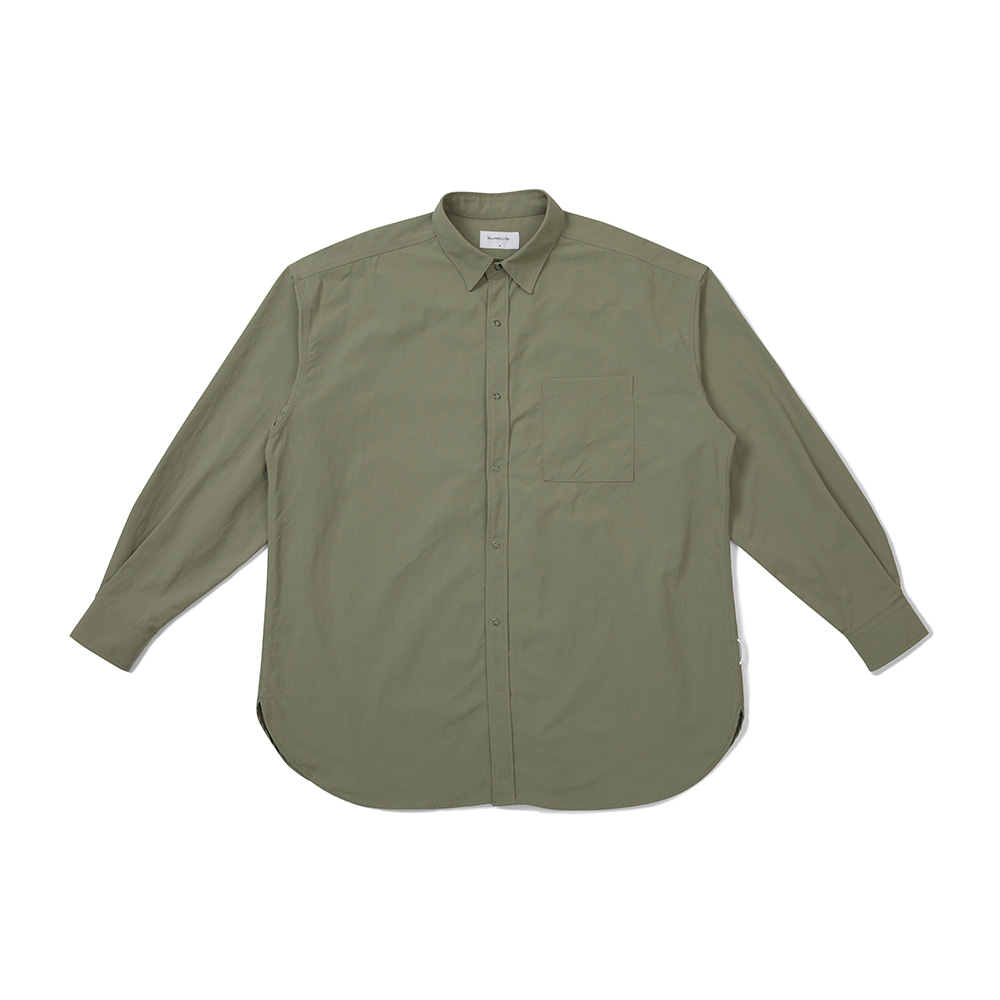 [FW20 Sounds Life] Nylon Big Shirt(Khaki) 스테레오 바이널즈[FW20 Sounds Life] Nylon Big Shirt(Khaki)