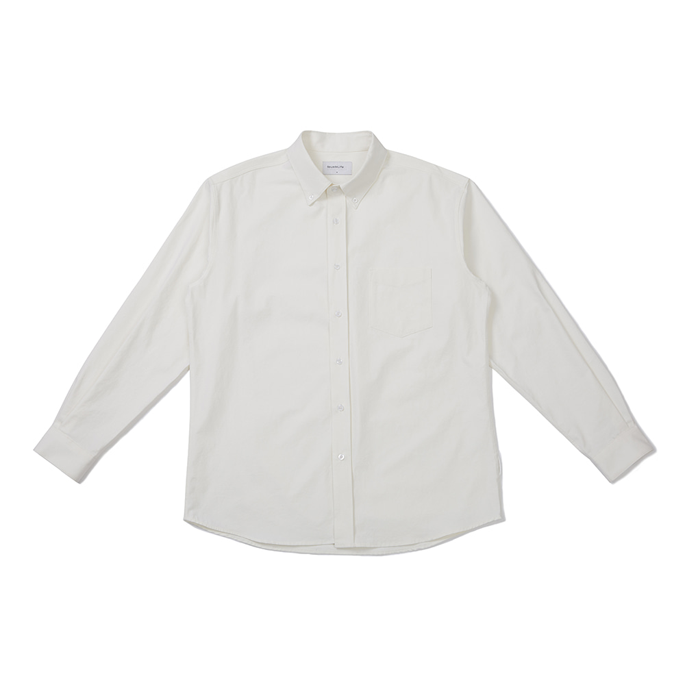 [FW20 Sounds Life] Soft Button-down Shirt(White) 스테레오 바이널즈[FW20 Sounds Life] Soft Button-down Shirt(White)