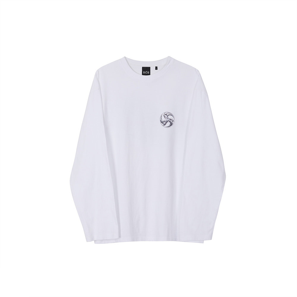 스테레오 바이널즈 - [AW20 SCS] 3D Symbol Long Sleeve(White)