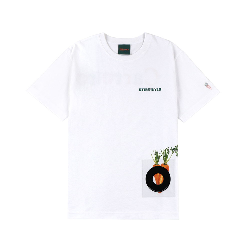 스테레오 바이널즈 - [SS20 SV X Carrots] Pvc Pocket T-Shirts(White)