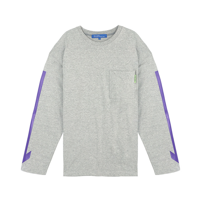 스테레오 바이널즈 - [SS18 ISA] Arrow Long Sleeve(Melange Grey)