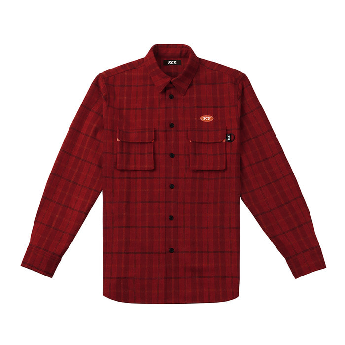 [FW18 SV] Logo Flannel Shirt(Red) 스테레오 바이널즈[FW18 SV] Logo Flannel Shirt(Red)