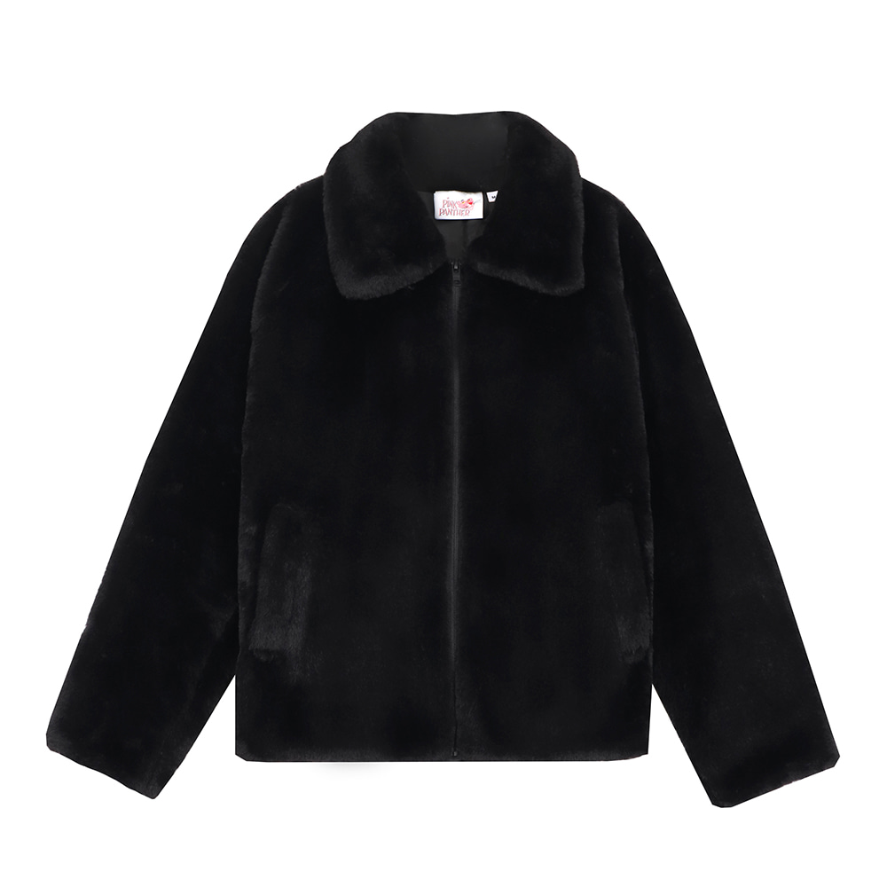 [FW19 Pink Panther] Faux Fur Jacket(Black) 스테레오 바이널즈[FW19 Pink Panther] Faux Fur Jacket(Black)