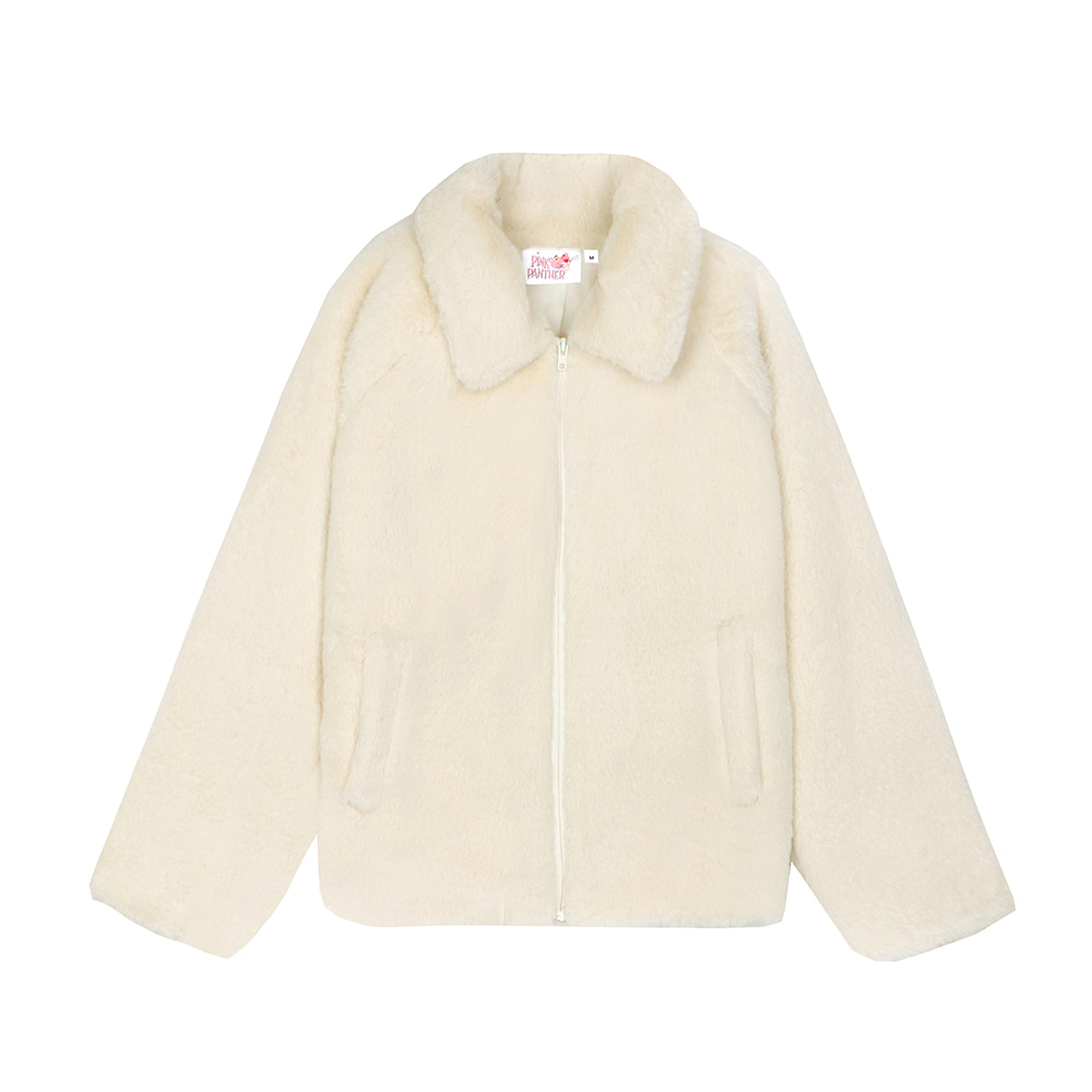 [FW19 Pink Panther] Faux Fur Jacket(Ivory) 스테레오 바이널즈[FW19 Pink Panther] Faux Fur Jacket(Ivory)