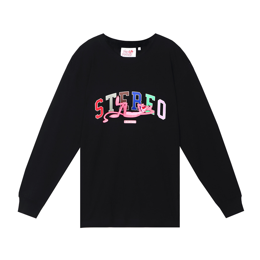 [FW19 Pink Panther] Stereo Logo Long Sleeve(Black) 스테레오 바이널즈[FW19 Pink Panther] Stereo Logo Long Sleeve(Black)