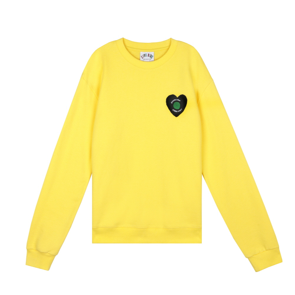 스테레오 바이널즈 - [SS20 SV X BPS] Heart Logo Sweatshirts(Yellow)