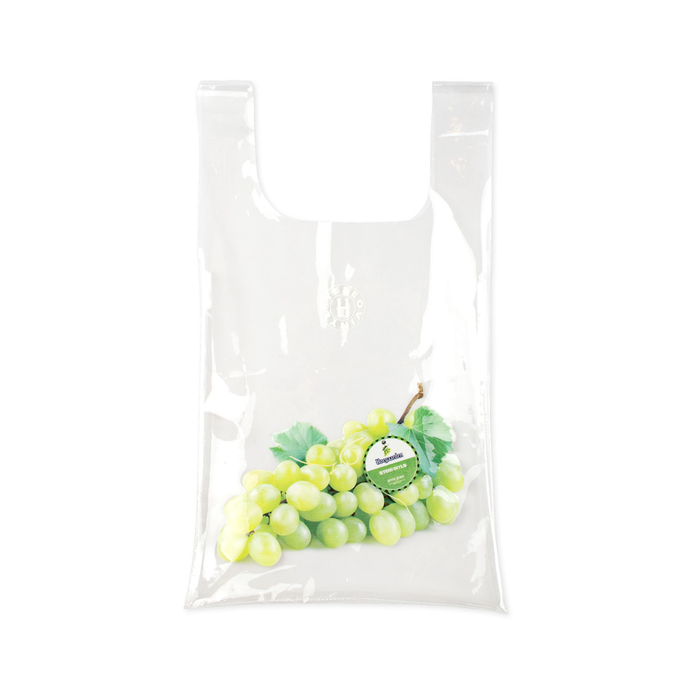 스테레오 바이널즈 - [SS20 SV X Hoegaarden] GREEN GRAPE MARKET BAG(White)