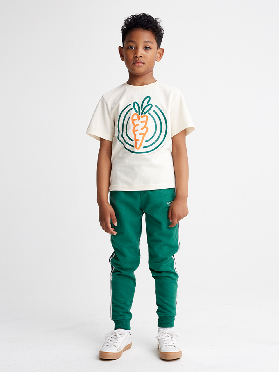 [SS20 SV X Carrots] Circle Carrots T-Shirts for Kids(Ivory) 스테레오 바이널즈[SS20 SV X Carrots] Circle Carrots T-Shirts for Kids(Ivory)