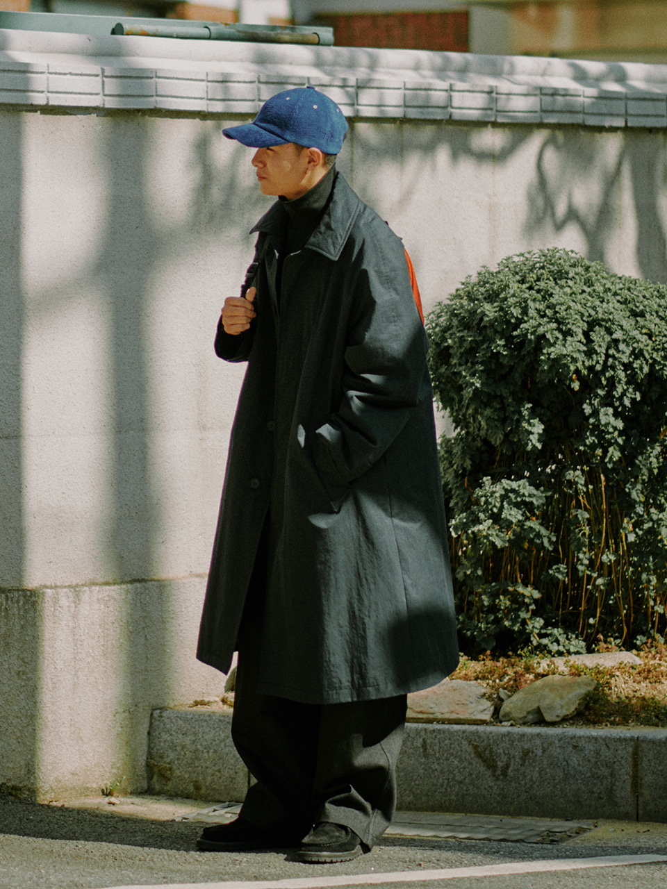 [10/30(금) 예약배송][FW20] Cotton Padded Balmacaan Coat(Navy) 스테레오 바이널즈[10/30(금) 예약배송][FW20] Cotton Padded Balmacaan Coat(Navy)