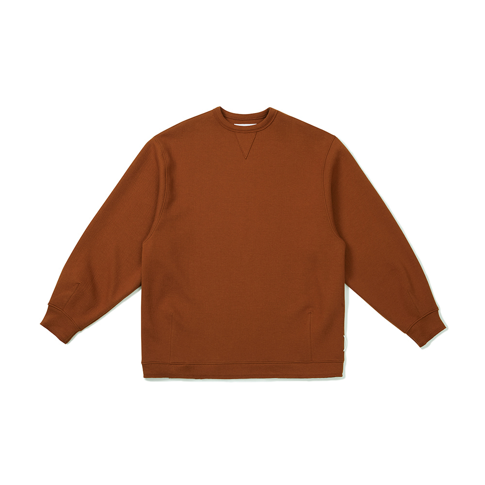[FW20 Sounds Life] Cut & Tucked Sweatshirt(Brown) 스테레오 바이널즈[FW20 Sounds Life] Cut & Tucked Sweatshirt(Brown)