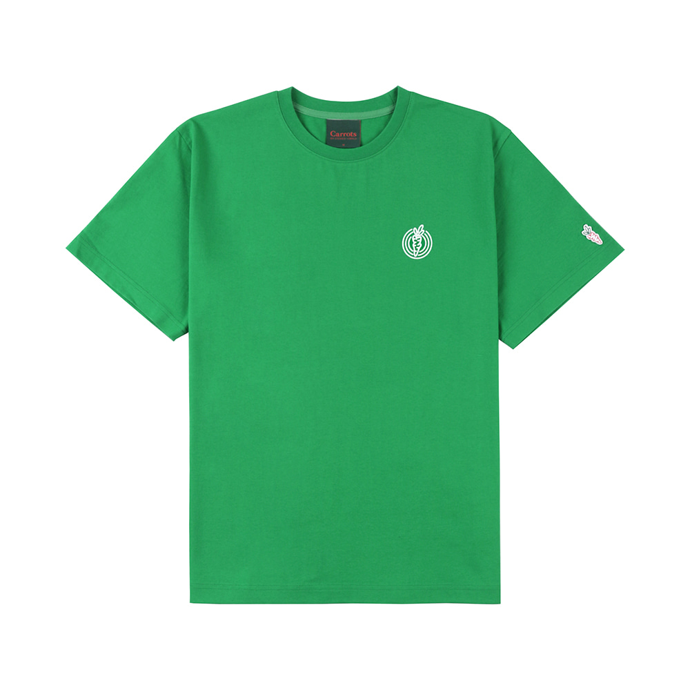 스테레오 바이널즈 - [SS20 SV X Carrots] One Point Logo T-shirts(Green)