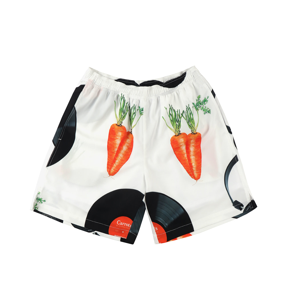 스테레오 바이널즈 - [SS20 SV X Carrots] Carrots Pattern Short Pants(White)