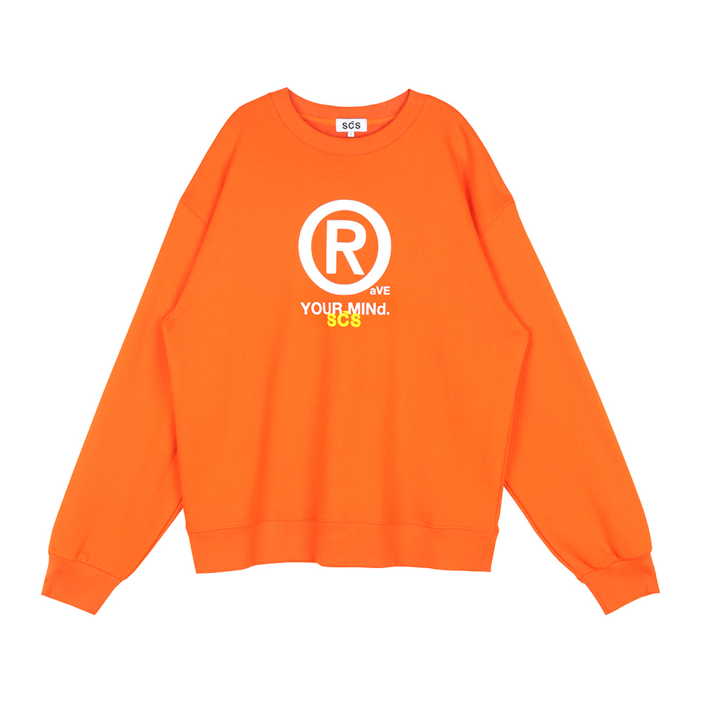 스테레오 바이널즈 - [SS20 SCS] ® Sweatshirts(Orange)
