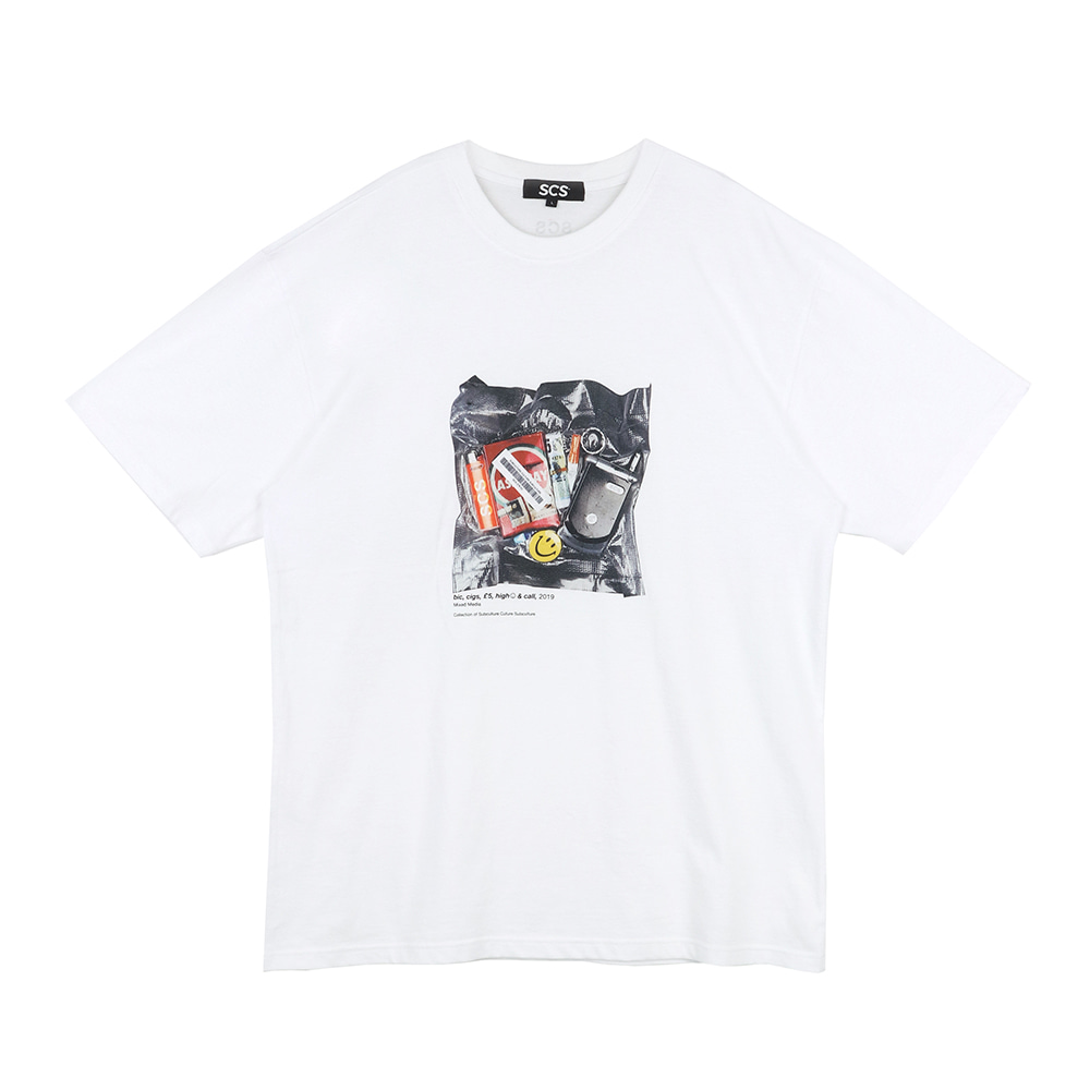 스테레오 바이널즈 - [SS19 SCS] Belongings Tee(White)