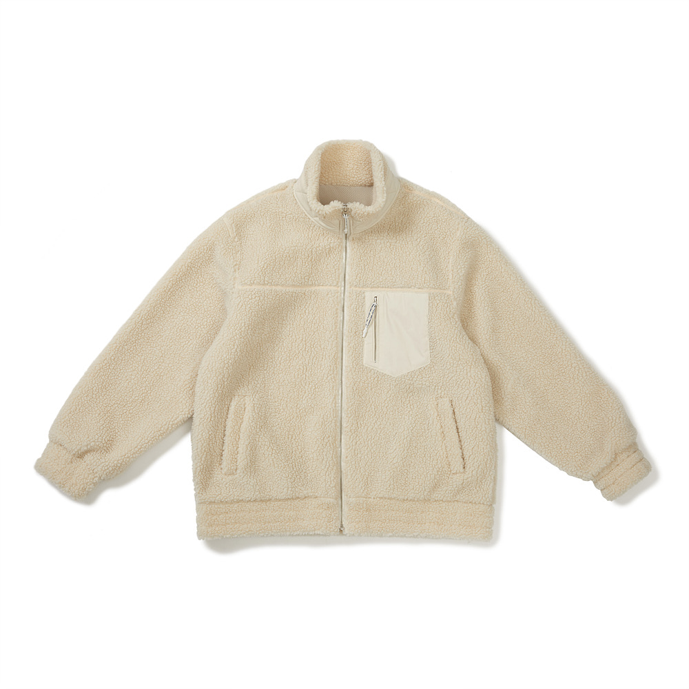 [FW20] Oversized Downy Fleece Jacket(Ivory) 스테레오 바이널즈[FW20] Oversized Downy Fleece Jacket(Ivory)