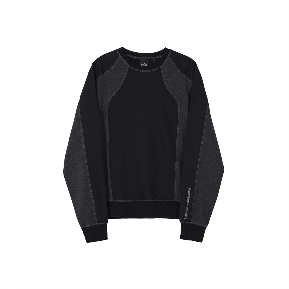 스테레오 바이널즈 - [AW20 SCS] Panel Sweatshirt(Black)