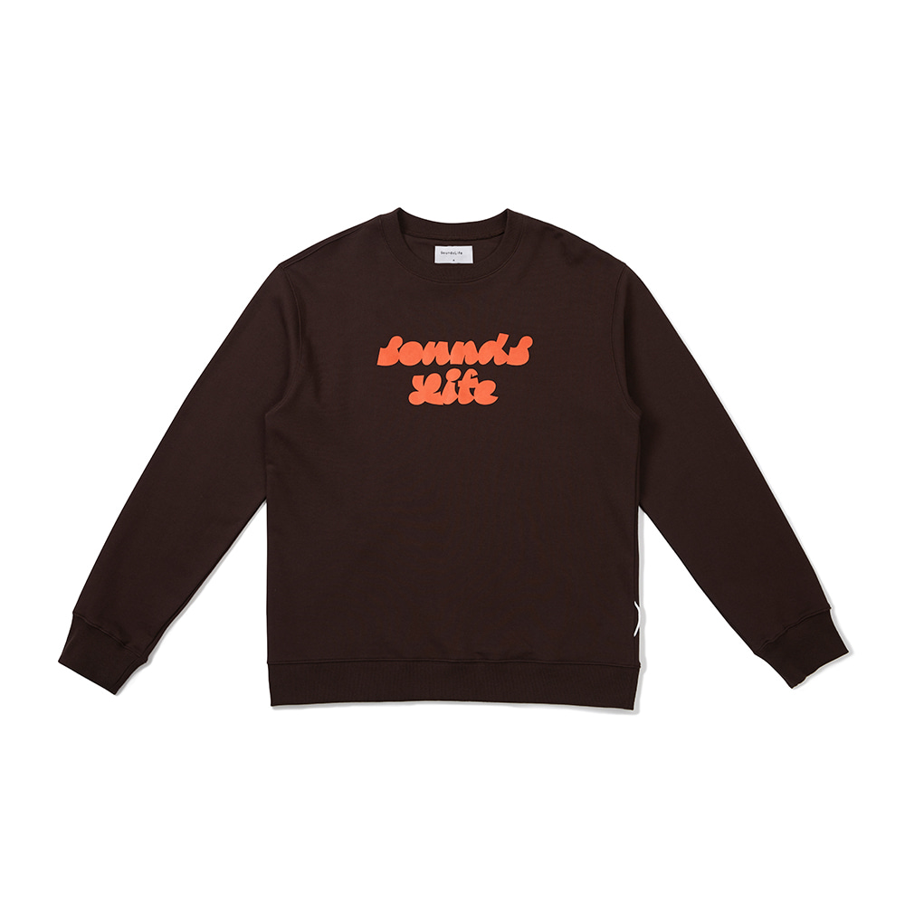 [FW20 Sounds Life] Sounds Life Sweatshirt(Brown) 스테레오 바이널즈[FW20 Sounds Life] Sounds Life Sweatshirt(Brown)