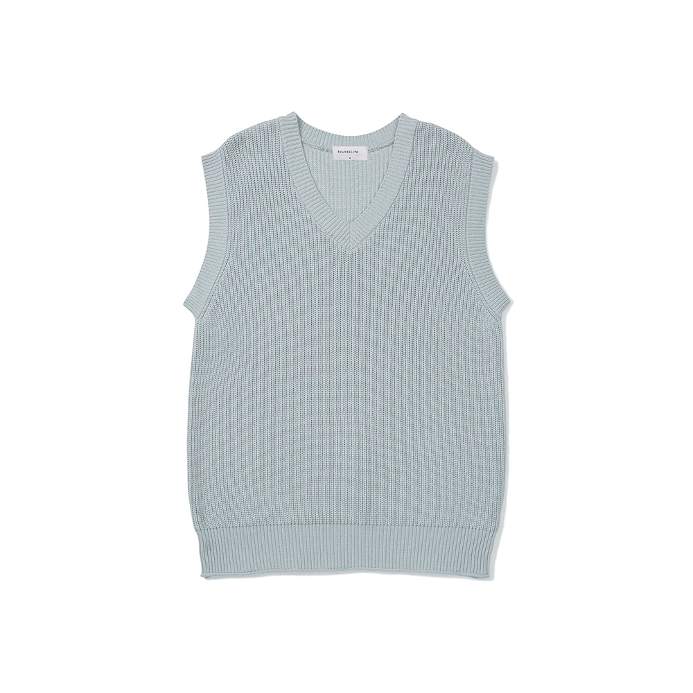 [FW20 Sounds Life] Mellow Knit Vest(Grey) 스테레오 바이널즈[FW20 Sounds Life] Mellow Knit Vest(Grey)
