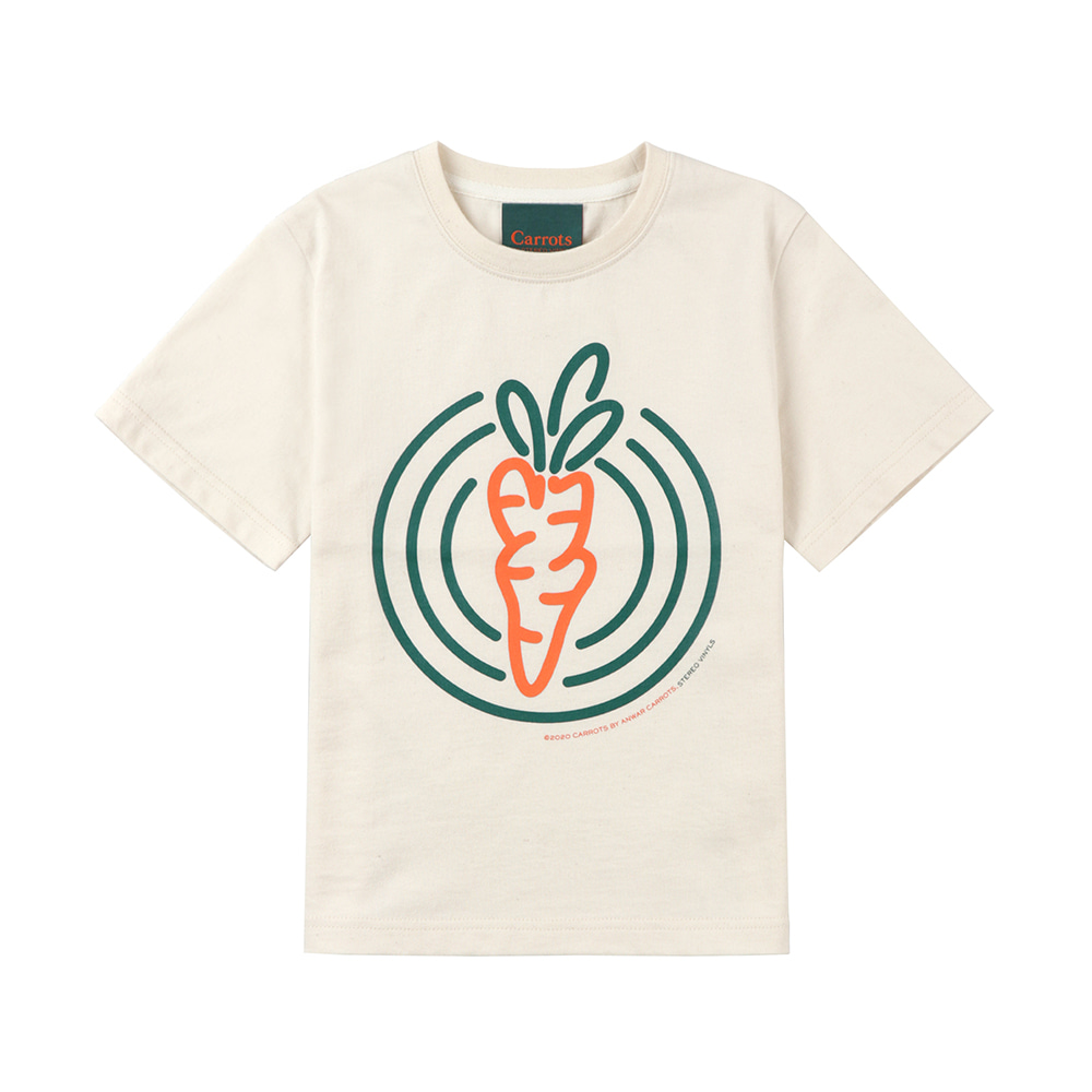 스테레오 바이널즈 - [SS20 SV X Carrots] Circle Carrots T-Shirts for Kids(Ivory)