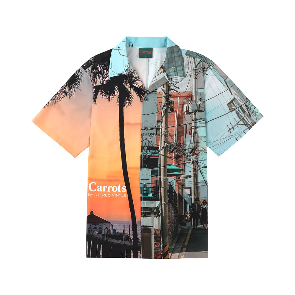 스테레오 바이널즈 - [SS20 SV X Carrots] City Pattern Shirts(White)