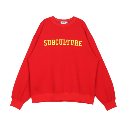 스테레오 바이널즈 - [AW19 SCS] SUBCULTURE Sweatshirts(Red)