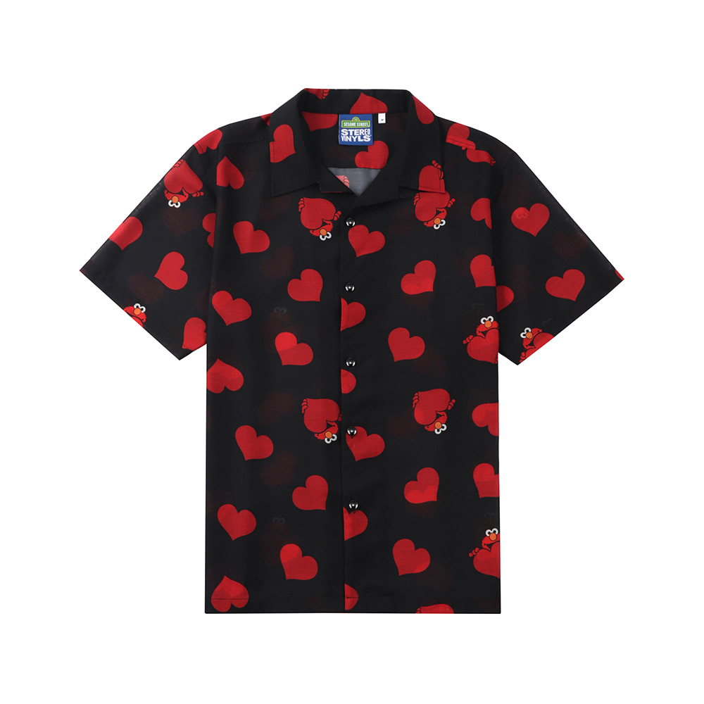 [Sesame Street] Love Poly Shirts(Black) 스테레오 바이널즈[Sesame Street] Love Poly Shirts(Black)