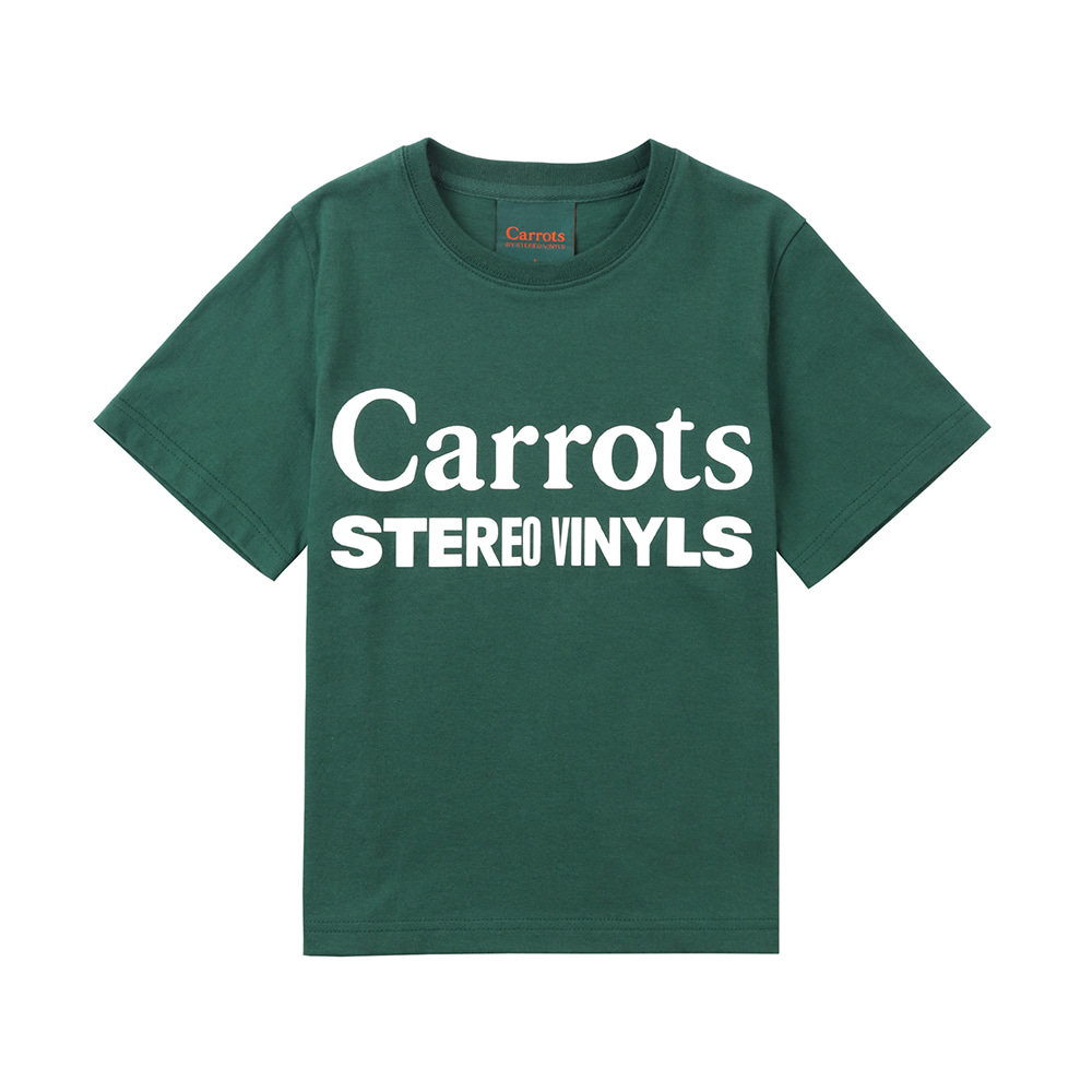스테레오 바이널즈 - [SS20 SV X Carrots] Carrots Logo T-Shirts for Kids(Green)