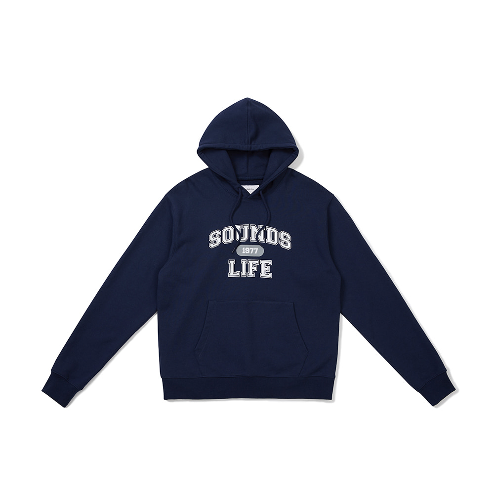[FW20 Sounds Life] College Hoodie(Navy) 스테레오 바이널즈[FW20 Sounds Life] College Hoodie(Navy)