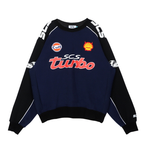 스테레오 바이널즈 - [AW19 SCS] SCS Turbo Sweatshirts(Navy)