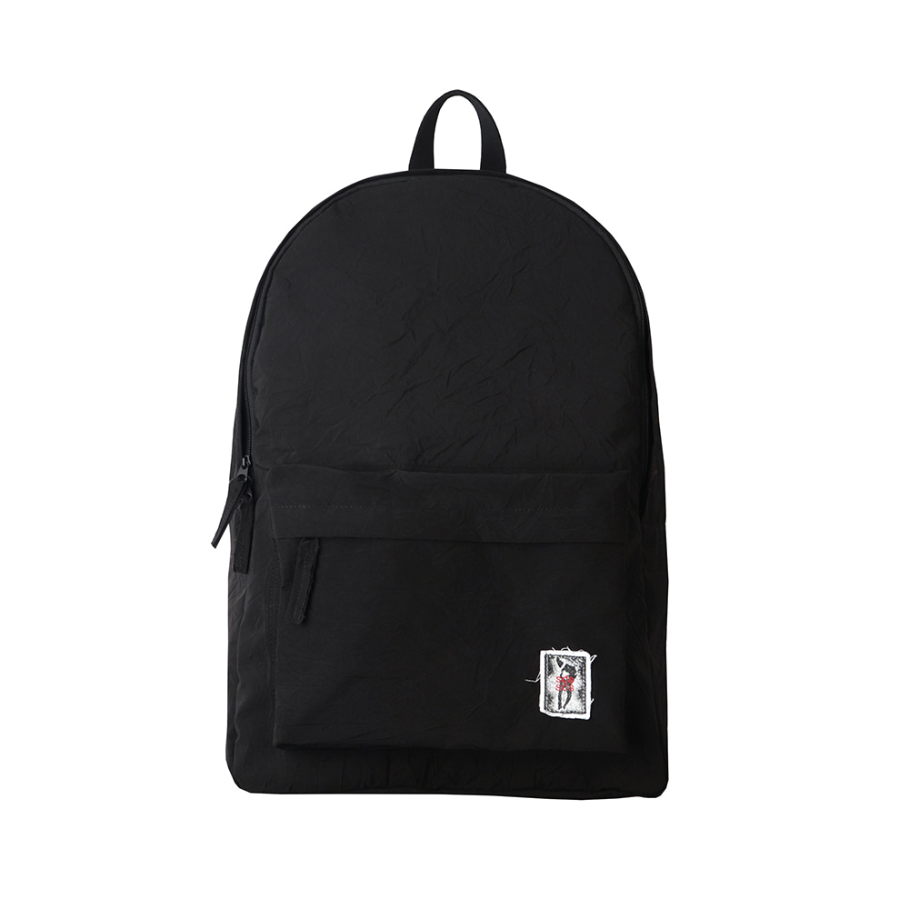 스테레오 바이널즈 - [SS20 SCS] Creased Backpack(Black)