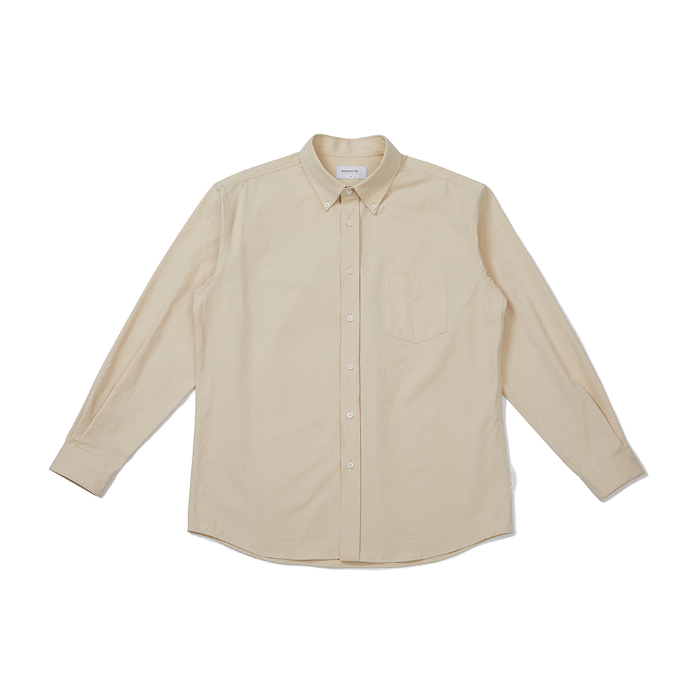 [FW20 Sounds Life] Soft Button-down Shirt(Beige) 스테레오 바이널즈[FW20 Sounds Life] Soft Button-down Shirt(Beige)